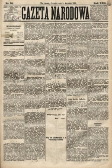 Gazeta Narodowa. 1883, nr76