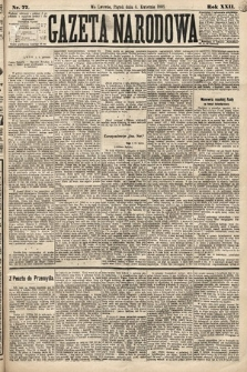 Gazeta Narodowa. 1883, nr77