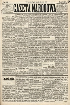 Gazeta Narodowa. 1883, nr83