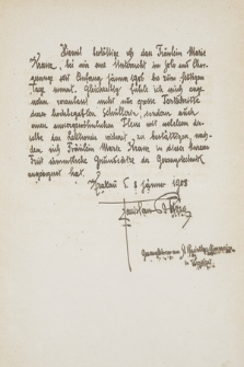 Kopie akt Szkoły Śpiewu Stanisława Bursy w Krakowie z lat 1908-1945