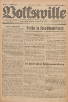 Volkswille : Zentralorgan der Deutschen Sozialistischen Arbeitspartei Polens. Jg.12, Nr. 184 (13 August 1927) + dod.