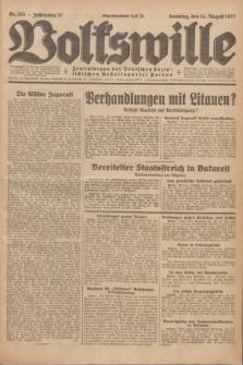 Volkswille : Zentralorgan der Deutschen Sozialistischen Arbeitspartei Polens. Jg.12, Nr. 185 (14 August 1927) + dod.