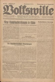Volkswille : Zentralorgan der Deutschen Sozialistischen Arbeitspartei Polens. Jg.12, Nr. 187 (18 August 1927) + dod.