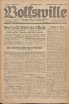 Volkswille : Zentralorgan der Deutschen Sozialistischen Arbeitspartei Polens. Jg.12, Nr. 189 (20 August 1927) + dod.