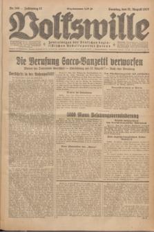 Volkswille : Zentralorgan der Deutschen Sozialistischen Arbeitspartei Polens. Jg.12, Nr. 190 (21 August 1927) + dod.