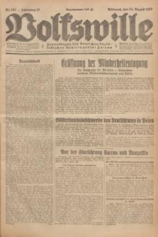 Volkswille : Zentralorgan der Deutschen Sozialistischen Arbeitspartei Polens. Jg.12, Nr. 192 (24 August 1927) + dod.