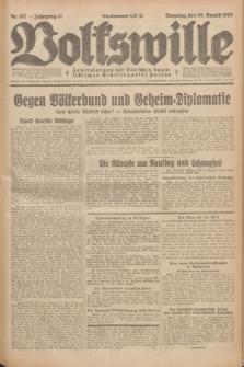 Volkswille : Zentralorgan der Deutschen Sozialistischen Arbeitspartei Polens. Jg.12, Nr. 197 (30 August 1927) + dod.