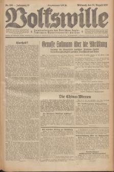 Volkswille : Zentralorgan der Deutschen Sozialistischen Arbeitspartei Polens. Jg.12, Nr. 198 (31 August 1927) + dod.