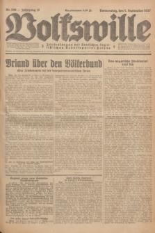 Volkswille : Zentralorgan der Deutschen Sozialistischen Arbeitspartei Polens. Jg.12, Nr. 199 (1 September 1927) + dod.