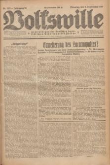 Volkswille : Zentralorgan der Deutschen Sozialistischen Arbeitspartei Polens. Jg.12, Nr. 203 (6 September 1927) + dod.