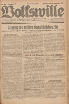 Volkswille : Zentralorgan der Deutschen Sozialistischen Arbeitspartei Polens. Jg.12, Nr. 204 (7 September 1927) + dod.