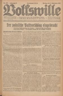 Volkswille : Zentralorgan der Deutschen Sozialistischen Arbeitspartei Polens. Jg.12, Nr. 206 (9 September 1927) + dod.