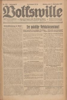 Volkswille : Zentralorgan der Deutschen Sozialistischen Arbeitspartei Polens. Jg.12, Nr. 208 (11 September 1927) + dod.