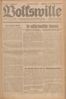 Volkswille : Zentralorgan der Deutschen Sozialistischen Arbeitspartei Polens. Jg.12, Nr. 209 (13 September 1927) + dod.