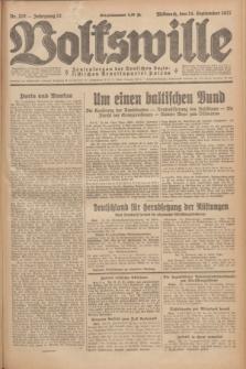 Volkswille : Zentralorgan der Deutschen Sozialistischen Arbeitspartei Polens. Jg.12, Nr. 210 (14 September 1927) + dod.