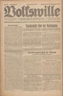 Volkswille : Zentralorgan der Deutschen Sozialistischen Arbeitspartei Polens. Jg.12, Nr. 215 (20 September 1927) + dod.
