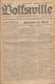Volkswille : Zentralorgan der Deutschen Sozialistischen Arbeitspartei Polens. Jg.12, Nr. 219 (24 September 1927) + dod.