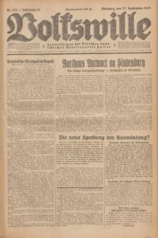 Volkswille : Zentralorgan der Deutschen Sozialistischen Arbeitspartei Polens. Jg.12, Nr. 221 (27 September 1927) + dod.
