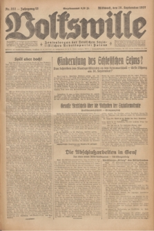 Volkswille : Zentralorgan der Deutschen Sozialistischen Arbeitspartei Polens. Jg.12, Nr. 222 (28 September 1927) + dod.