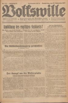 Volkswille : Zentralorgan der Deutschen Sozialistischen Arbeitspartei Polens. Jg.12, Nr. 223 (29 September 1927) + dod.