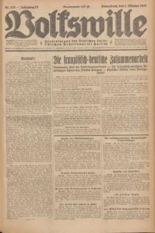 Volkswille : Zentralorgan der Deutschen Sozialistischen Arbeitspartei Polens. Jg.12, Nr. 225 (1 Oktober 1927) + dod.
