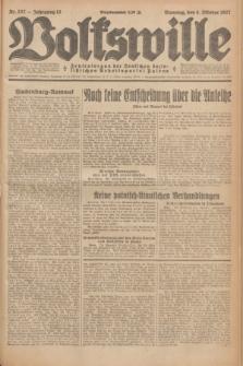Volkswille : Zentralorgan der Deutschen Sozialistischen Arbeitspartei Polens. Jg.12, Nr. 227 (4 Oktober 1927) + dod.