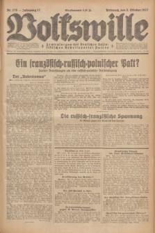 Volkswille : Zentralorgan der Deutschen Sozialistischen Arbeitspartei Polens. Jg.12, Nr. 228 (5 Oktober 1927) + dod.
