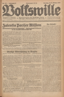 Volkswille : Zentralorgan der Deutschen Sozialistischen Arbeitspartei Polens. Jg.12, Nr. 232 (9 Oktober 1927) + dod.