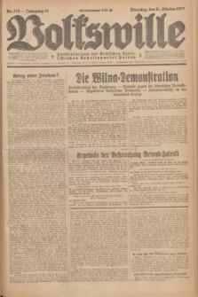 Volkswille : Zentralorgan der Deutschen Sozialistischen Arbeitspartei Polens. Jg.12, Nr. 233 (11 Oktober 1927) + dod.