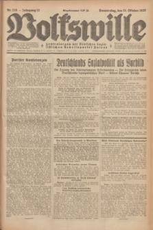 Volkswille : Zentralorgan der Deutschen Sozialistischen Arbeitspartei Polens. Jg.12, Nr. 235 (13 Oktober 1927) + dod.