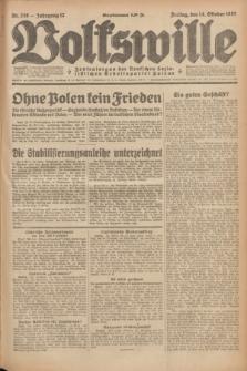 Volkswille : Zentralorgan der Deutschen Sozialistischen Arbeitspartei Polens. Jg.12, Nr. 236 (14 Oktober 1927) + dod.