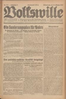 Volkswille : Zentralorgan der Deutschen Sozialistischen Arbeitspartei Polens. Jg.12, Nr. 237 (15 Oktober 1927) + dod.