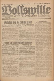Volkswille : Zentralorgan der Deutschen Sozialistischen Arbeitspartei Polens. Jg.12, Nr. 243 (22 Oktober 1927) + dod.