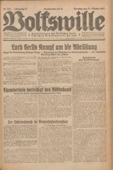 Volkswille : Zentralorgan der Deutschen Sozialistischen Arbeitspartei Polens. Jg.12, Nr. 244 (23 Oktober 1927) + dod.