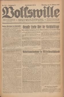 Volkswille : Zentralorgan der Deutschen Sozialistischen Arbeitspartei Polens. Jg.12, Nr. 245 (25 Oktober 1927) + dod.
