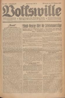 Volkswille : Zentralorgan der Deutschen Sozialistischen Arbeitspartei Polens. Jg.12, Nr. 246 (26 Oktober 1927) + dod.