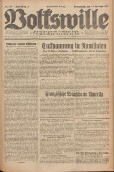 Volkswille : Zentralorgan der Deutschen Sozialistischen Arbeitspartei Polens. Jg.12, Nr. 249 (29 Oktober 1927) + dod.