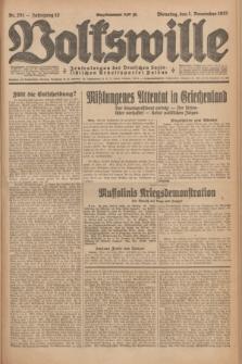 Volkswille : Zentralorgan der Deutschen Sozialistischen Arbeitspartei Polens. Jg.12, Nr. 251 (1 November 1927) + dod.