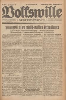 Volkswille : Zentralorgan der Deutschen Sozialistischen Arbeitspartei Polens. Jg.12, Nr. 252 (3 November 1927) + dod.