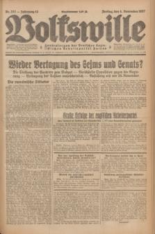 Volkswille : Zentralorgan der Deutschen Sozialistischen Arbeitspartei Polens. Jg.12, Nr. 253 (4 November 1927) + dod.