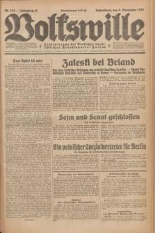 Volkswille : Zentralorgan der Deutschen Sozialistischen Arbeitspartei Polens. Jg.12, Nr. 254 (5 November 1927) + dod.