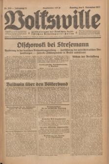 Volkswille : Zentralorgan der Deutschen Sozialistischen Arbeitspartei Polens. Jg.12, Nr. 255 (6 November 1927) + dod.