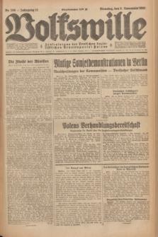 Volkswille : Zentralorgan der Deutschen Sozialistischen Arbeitspartei Polens. Jg.12, Nr. 256 (8 November 1927) + dod.