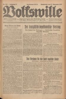 Volkswille : Zentralorgan der Deutschen Sozialistischen Arbeitspartei Polens. Jg.12, Nr. 260 (12 November 1927) + dod.