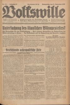 Volkswille : Zentralorgan der Deutschen Sozialistischen Arbeitspartei Polens. Jg.12, Nr. 264 (17 November 1927) + dod.
