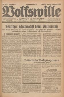 Volkswille : Zentralorgan der Deutschen Sozialistischen Arbeitspartei Polens. Jg.12, Nr. 267 (20 November 1927) + dod.