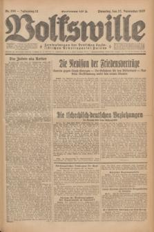 Volkswille : Zentralorgan der Deutschen Sozialistischen Arbeitspartei Polens. Jg.12, Nr. 268 (22 November 1927) + dod.