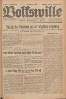 Volkswille : Zentralorgan der Deutschen Sozialistischen Arbeitspartei Polens. Jg.12, Nr. 269 (23 November 1927) + dod.