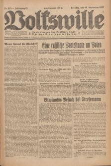 Volkswille : Zentralorgan der Deutschen Sozialistischen Arbeitspartei Polens. Jg.12, Nr. 273 (27 November 1927) + dod.