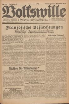 Volkswille : Zentralorgan der Deutschen Sozialistischen Arbeitspartei Polens. Jg.12, Nr. 284 (11 Dezember 1927) + dod.